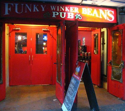 Funky Winker Pub in Vancouver, Canada